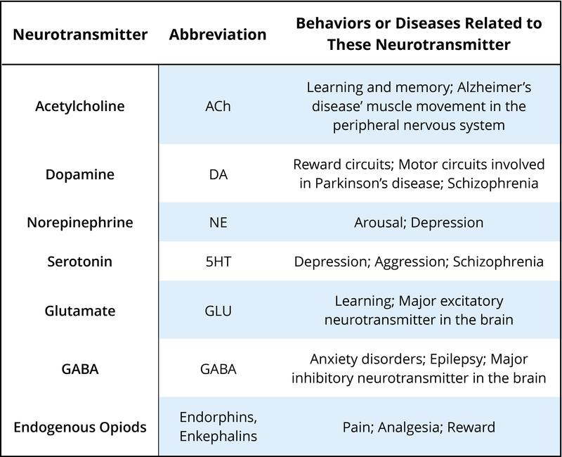Psychopharmacology | Noba
