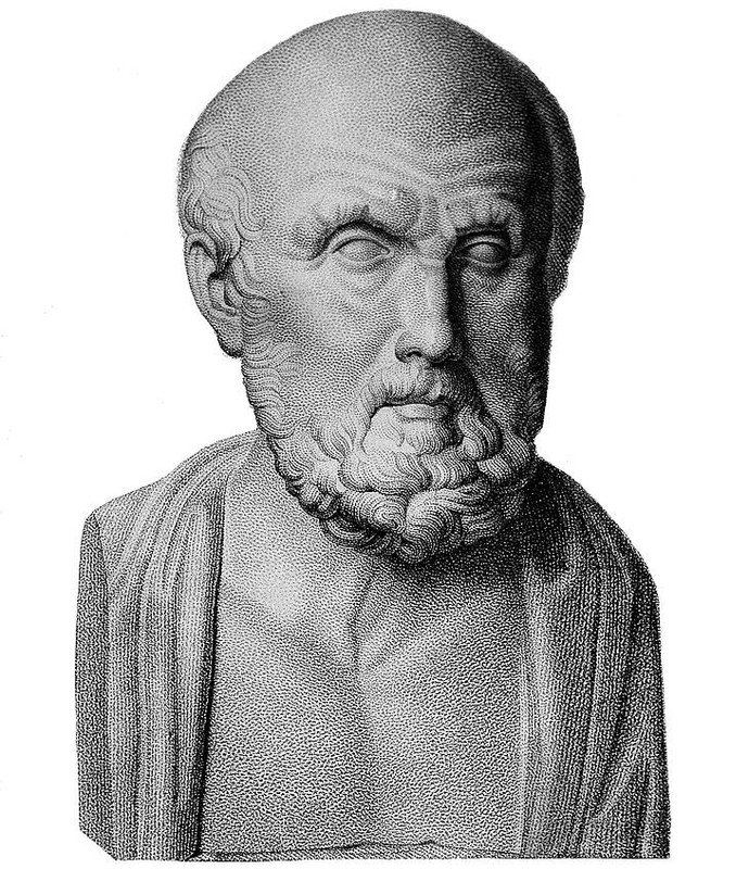 An engraving of Hippocrates