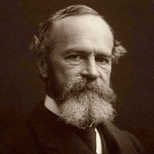 Photograph of William James from 1902.