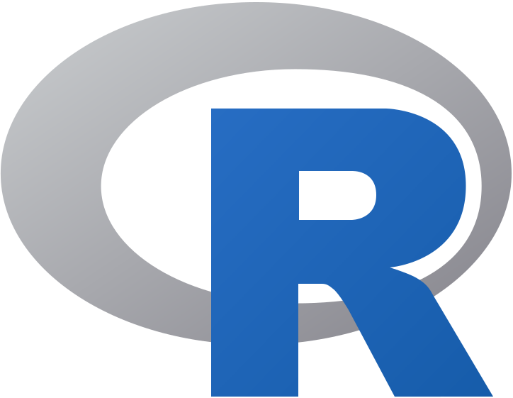 "The logo of the open source statistics software ""R""."