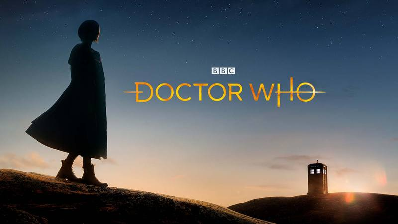 "A silhouette looking into the distance where a TARDIS stands on a hill. With the words ""Doctor Who"" superimposed on the image."