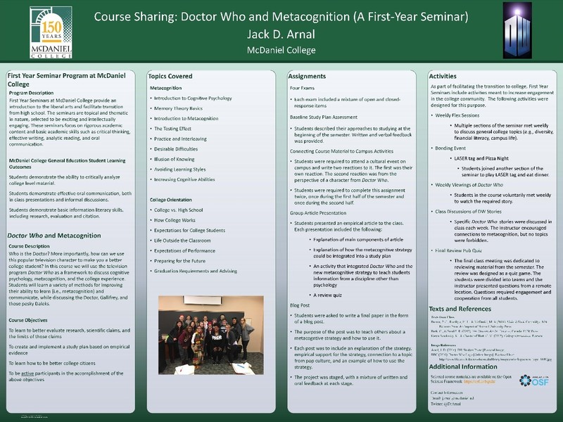 Image: A poster about this course was presented at NITOP 2018