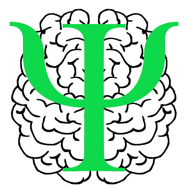 An image of a brain and a Greek letter Psi superimposed on it